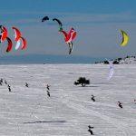 Snowkite au Col des Supeyres