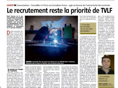 Le recrutement reste la priorité de l'association Travailler et Vivre en Livradois-Forez